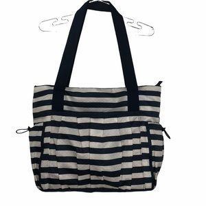 Thirty One New Day Tote Bag Rugby Stripe Navy